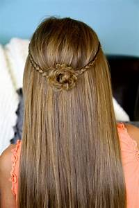 Braided Flower Tieback | Hairstyles for Long Hair | Cute ...