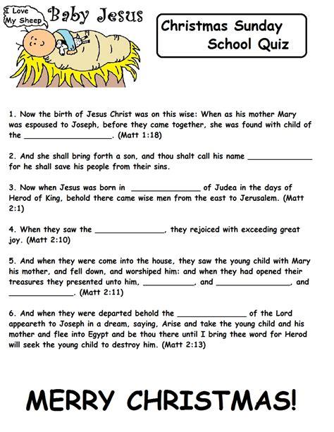 christmas sunday school lesson