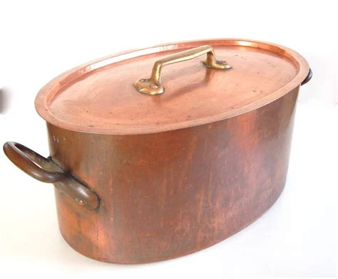 enormous antique copper french stew pot french vintage linens  antiques ruby lane