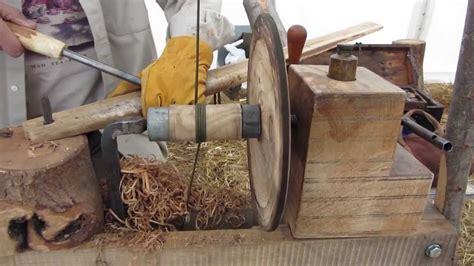 pole lathe turning  green woodworking  rhs wakehurst