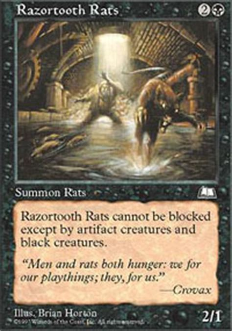 rat deck mtg tcgplayer razortooth rats weatherlight magic the gathering