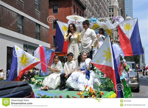 nyc philippines independence day parade editorial stock