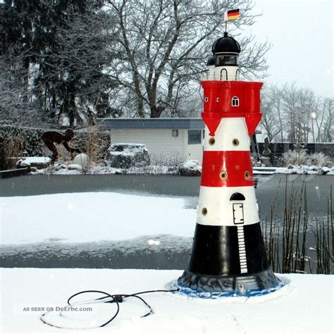 maritime deko garten leuchtturm roter sand 120 cm mit doppellicht deko garten