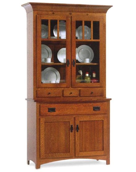 Classic Mission 2 Door Dining Room Hutch  Amish Dining