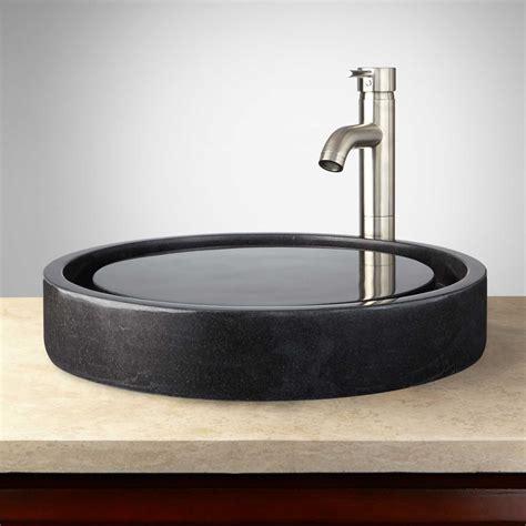 photos of vessel sinks round polished granite infinity vessel sink bathroom