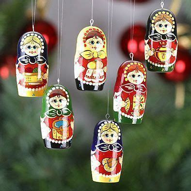wooden christmas ornaments russian girls christmas