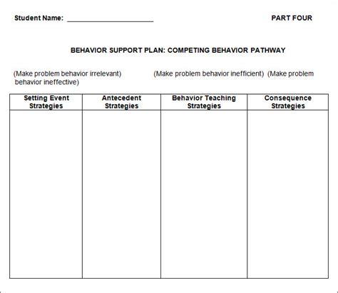 Behavior Change Plan Template behavior plan template 3 free word pdf documents