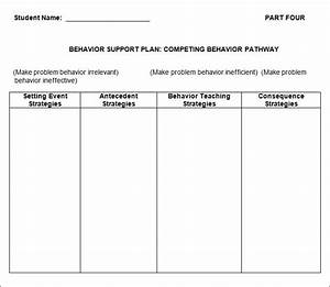 behavior plan template 3 free word pdf documents With behavior change plan template