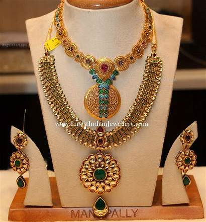 Gold Antique Haram Necklace Trendy Jewellery Designs