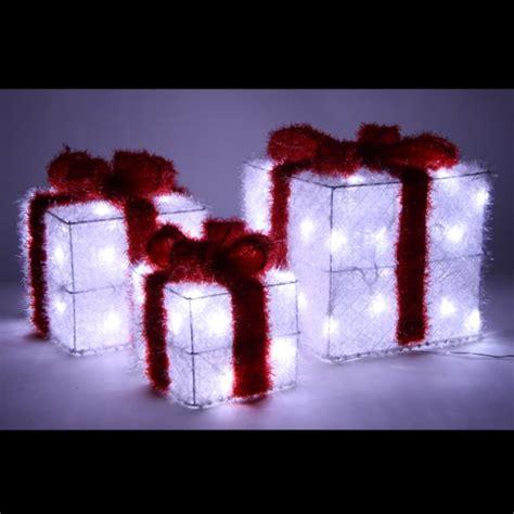 paquet cadeaux lumineux de noel acrylique assortis