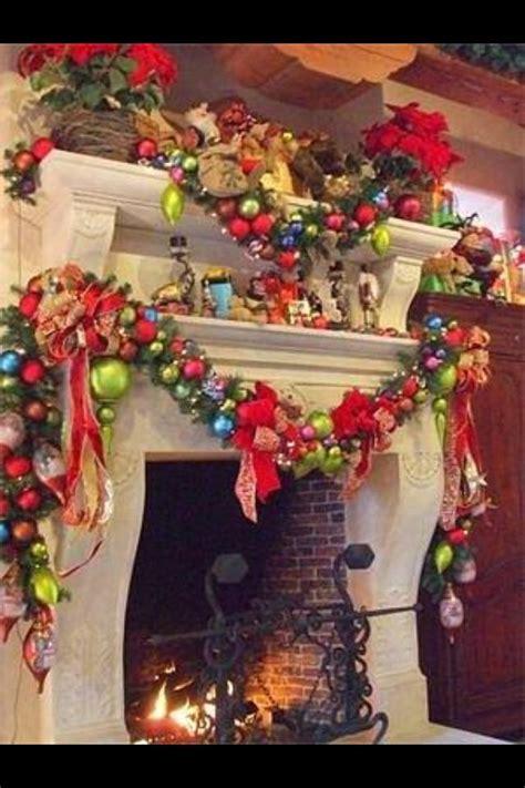 grinch stole christmas fire place decor