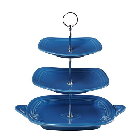 tiered serving stand gibson elite gracious dining dinnerware  tier rectangle plate set
