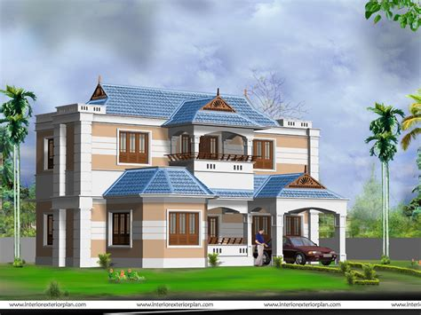home design interior and exterior 3d house plan with the implementation of 3d max modern