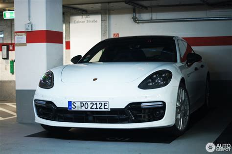 The panamera turbo comes in two flavors, and the more powerful one is a hybrid. Porsche 971 Panamera Turbo S E-Hybrid Sport Turismo - 21 April 2018 - Autogespot