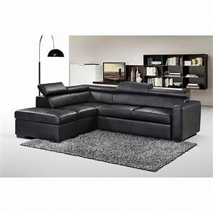 canape d39angle convertible simili cuir avec pouf With tapis moderne avec taille canape convertible