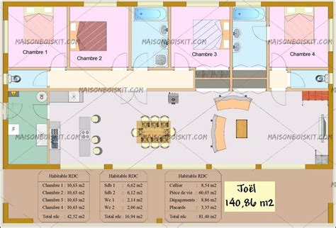 plan maison 4 chambres gratuit plan de maison 100m2 3 chambres plan maison 90 m2 pas