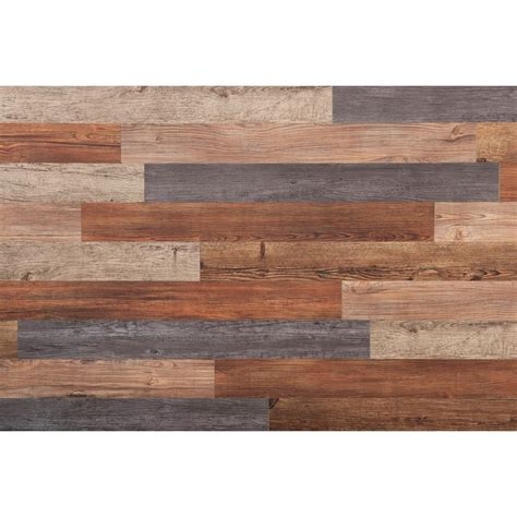wood plank decor e z wall assorted 4 in x 3 ft peel and press vinyl plank wall decor 20 sq ft case 16632