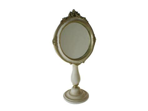 acheter en ligne table de toilette miroir en patin blanc