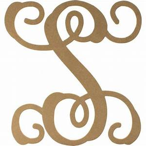 12quot wood letter vine monogram s ab2214 craftoutletcom With vine monogram wood letters