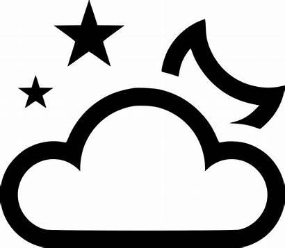 Moon Cloud Stars Icon Svg Crescent Onlinewebfonts