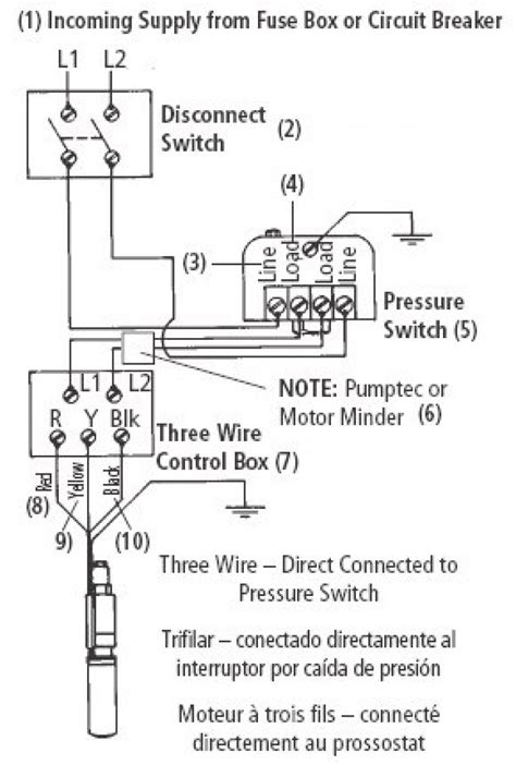 water pump pressure switch wiring diagram  wiring
