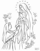 Lourdes Lady Coloring Fatima Matka Colorare Kolorowanka Maryja Maria Senhora Nossa Colorir Desenhos Fatimska Printable Boska Madonna Supercoloring Brigid Disegni sketch template