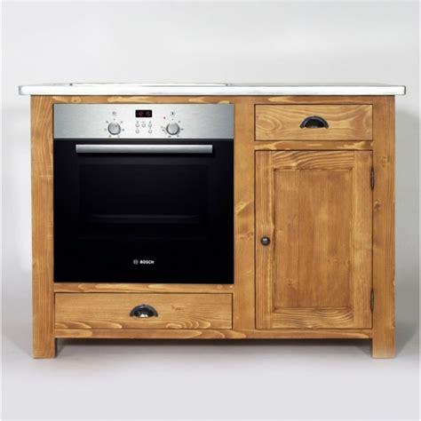 cuisine de a 0 z meuble de cuisine en bois pour four et plaques cagne
