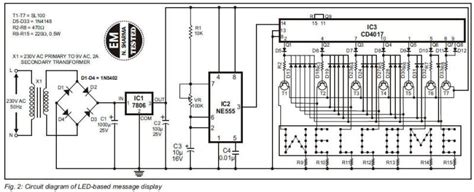 Led Circuit Diagram Letter by Led Message Display Circuit Diagram