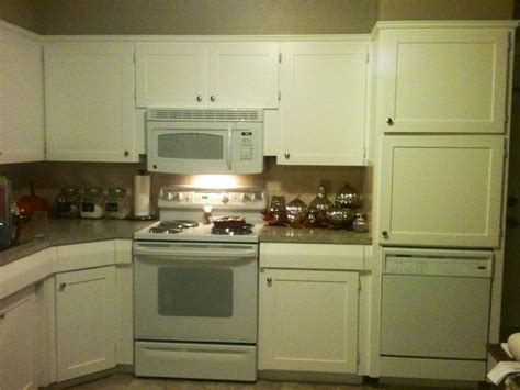 lowes kitchen cabinet paint refaced the cabinet doors created a quot frame quot with quot craft