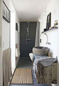 Salle De Bain En L : douche l 39 italienne dans petite salle de bain en longueur ~ Melissatoandfro.com Idées de Décoration