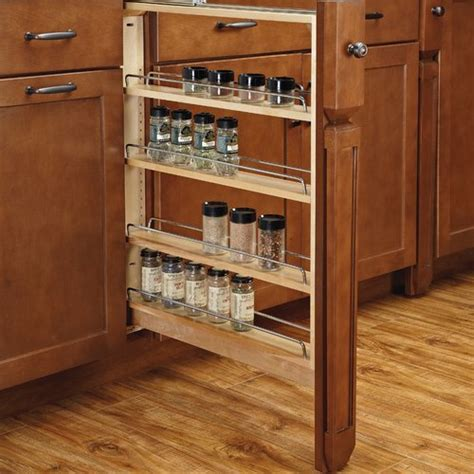 kitchen base cabinet organizers rev a shelf 6 inch base filler with soft 432 bfbbsc 5106