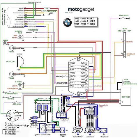 elektrisch schema  af bmw  en motogadget munit motoscope vmoc info pinterest bmw