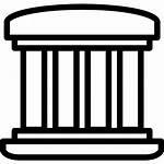 Pillars Icon Greek Four Building Pillar Clip