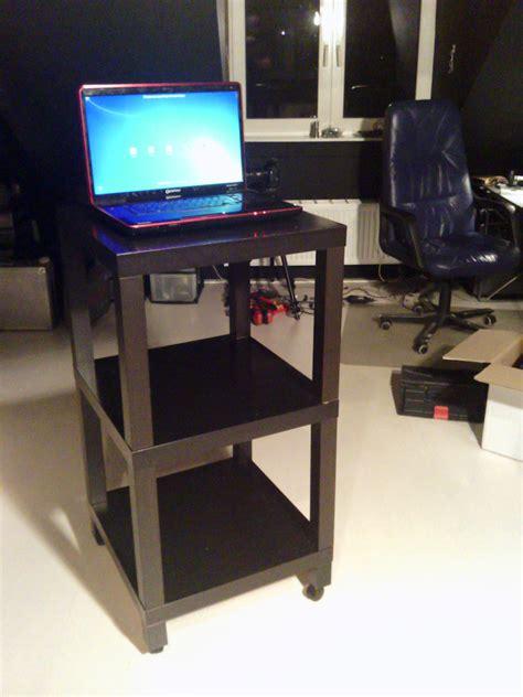 Ikea Desk Legs With Casters by Diy Ikea Rolling Desk Lifehacker Australia