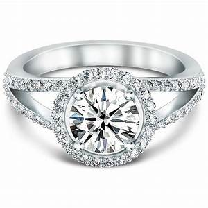 halo ring halo ring with split shank With split shank halo engagement ring with wedding band