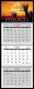 Business Card Calendar 2020 2020 3 Month Calendar At A Glance 4 Panel W Numbered