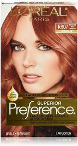 Pref Red Copper Rr 07 Size 1ct L 39 Oreal Preference Hair