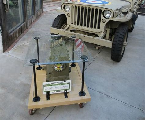 diy project military jeep engine block custom glass