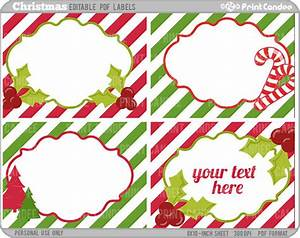 Rectangle editable pdf 8x10 christmas labels no by printcandee for Free printable editable christmas gift tags