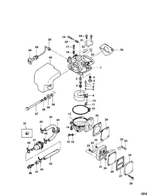 Two Cycle Carburetor Diagram by Mariner 8 Hp 2 Cylinder 2 Stroke International