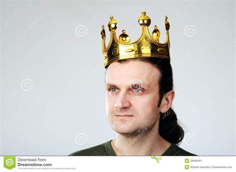 krone mann with crown stock image image 29668491