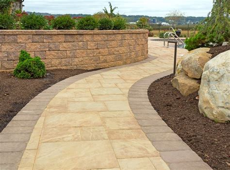 pavers walkways stone paver ep henry installation bristol walkway wall steps blend avalon fence patio course projects soldier outdoor paths