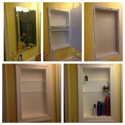 Medicine Cabinet Shelf by Converted Metal Medicine Cabinet Into Open Shelves I