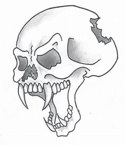 Cool Drawings Skulls Skull Easy Drawing Sketches