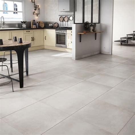 carrelage sol et mur blanc effet ciment fili 232 re l 60 x l 60 cm leroy merlin