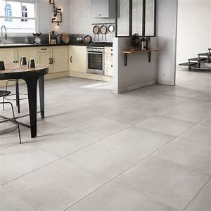 Küchentisch 60 X 60 : carrelage sol et mur blanc effet ciment fili re x cm leroy merlin ~ Markanthonyermac.com Haus und Dekorationen