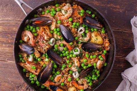spanish seafood paella recipe genius kitchen