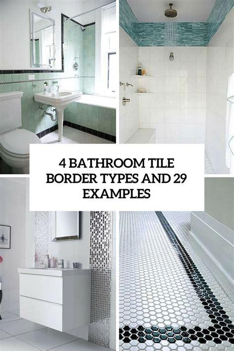 bathroom tile border types   examples bathroom