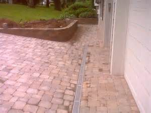 patio drainage channels modern patio outdoor
