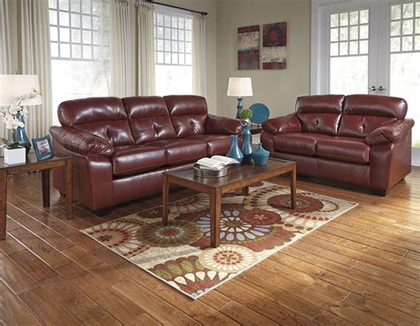 crimson dark red casual contemporary living room furniture